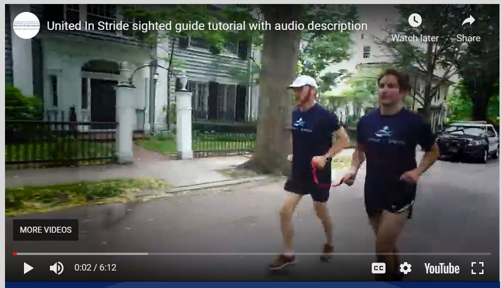 Screenshot of United in Stride sighted guide tutorial